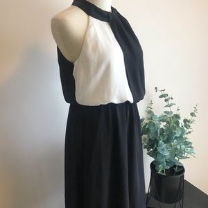 Modern Mock Neck Dress
